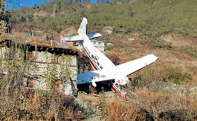 Plane crash in Nepal in Jumla