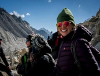 A happy trekker in Everest