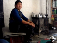A teahouse owner in Mustang