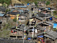 A typical village in Kanchenjunga