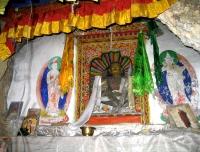 Milarepa's statue in Piren Phu in Tsum Valley