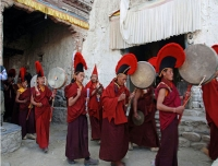 Monks performing during the Tiji Festival