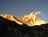 Mout Lhotse during sunset