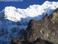 View of Ganesh Himal from Tsum Valley