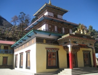A Buddhist monastery in Lho Village