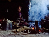 A Tamang Lady in her kitchen