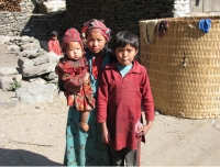 Children in Tamang Heritage Trail