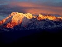 Sunset on Annapurna South