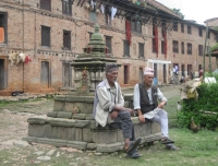 Local Men Resting in Bungamati