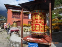 Buddhist Prayer Wheel at Ghat Village