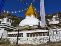 A Buddhist Chorten in Namche