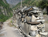 Prayer Wall on Manaslu Route