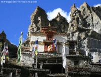 A Buddhist Temple in Annapurna Circuit