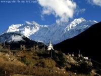 Braka Village and Annapurna Range
