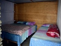 Trekker's room in a lodge at Badal Danda in Mardi Himal
