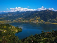View of Phewa Lake and Annapurna from Pokhara