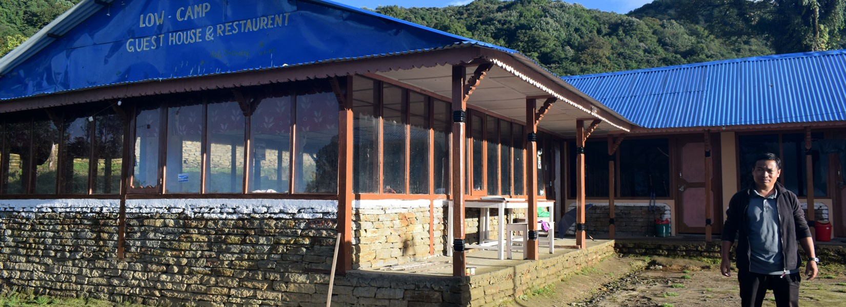 A Guest House at Low Camp in Mardi Himal Trek Route