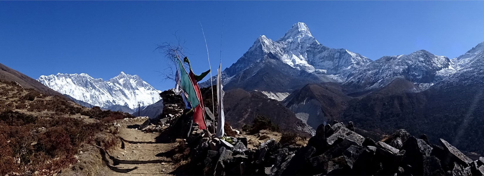 View Mt. Everest, Amadablam from Pangboche in Everest Base Camp
