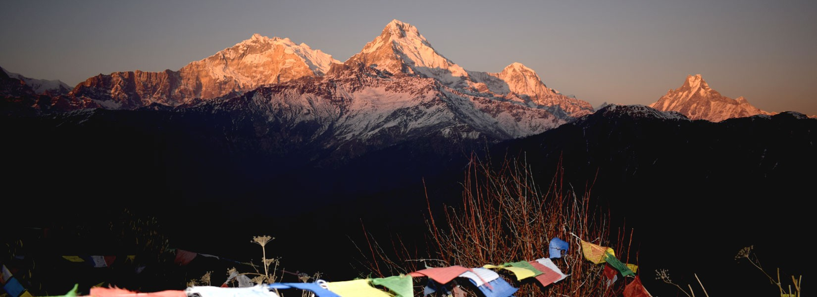 Sunset view over Annapurna Range