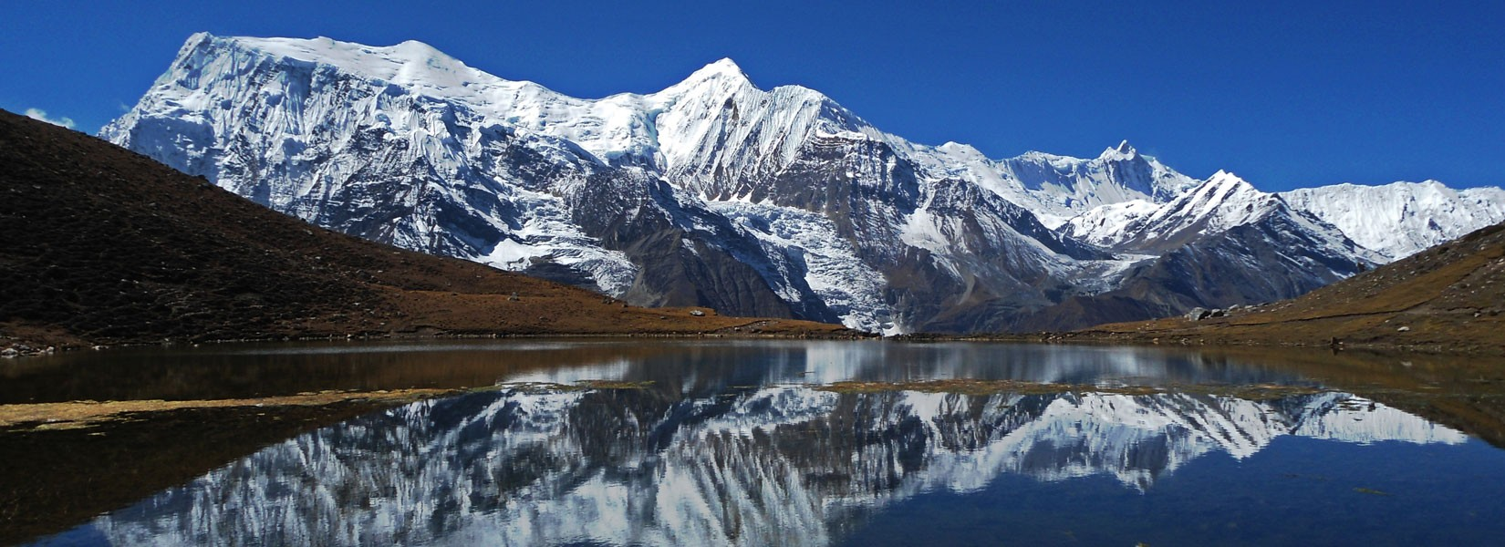 View of Ice lake, Annapurna III and Khangsar Kang in Annapurna Circuit Trek