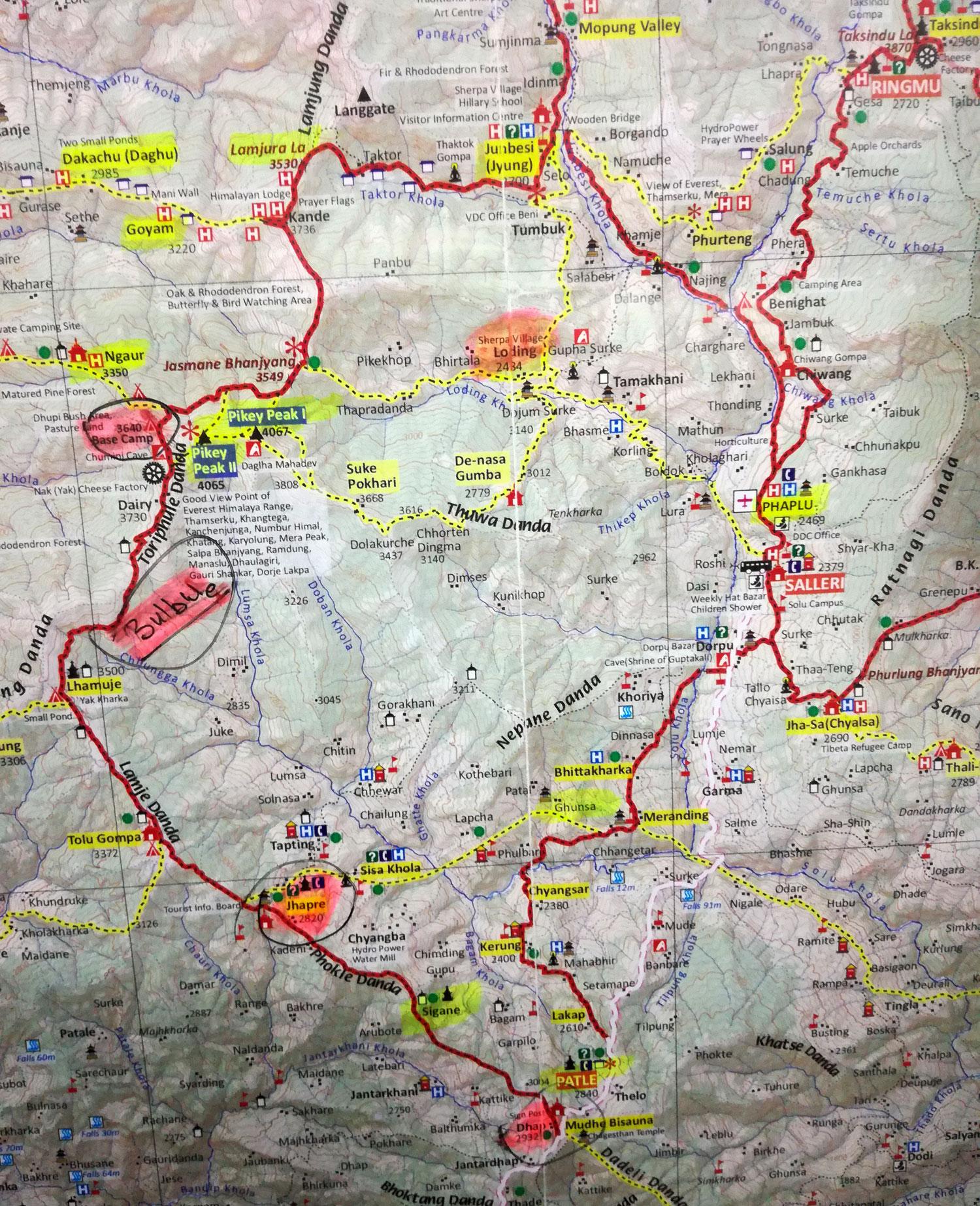 Pikey Peak Trek Map