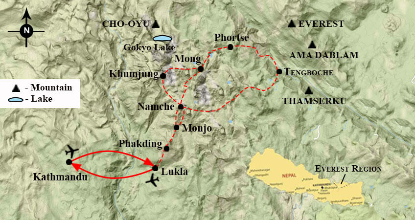 Everest Panorama Trek Map
