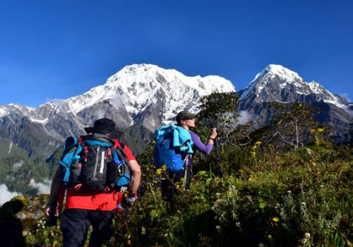 View from Badal Danda Mardi Himal Trek